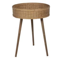 Clayre & Eef Odkládací stolek s bambusovou výplní - 46*62 cm