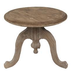 Clayre & Eef Dřevěný hnědý odkáladací stolek - 56*45 cm