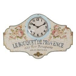 Clayre & Eef Nástěnné vintage hodiny Provence - 50*3*33 cm / 1*AA