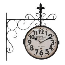 Clayre & Eef Nástěnné retro hodiny Central Station - 36*4*40 cm / 1*AA