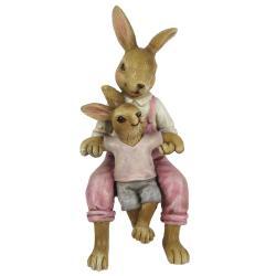 Clayre & Eef Velikonoční dekorace králíků - 6*6*15 cm