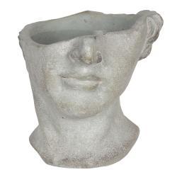 Clayre & Eef Květináč v designu rozbité antické busty Homme - 20*18*19 cm