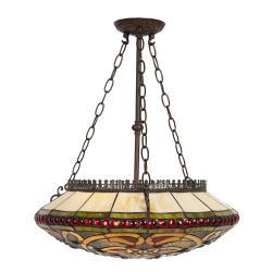 Clayre & Eef Závěsné stropní světlo Tiffany - 51*112 cm E27/max 3*60W