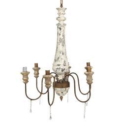 Clayre & Eef Závěsné světlo s patinou ve vintage stylu Aglaia - 67*60*82 cm E14/max 6*25W