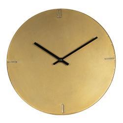 Clayre & Eef Minimalistické zlaté nástěnné hodiny Rhea – Ø 30*3 cm / 1*AA