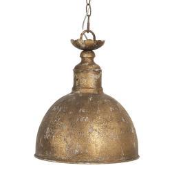 Clayre & Eef Zlato-hnědé vintage závěsné světlo Efrosyni – Ø 29*35 cm E14/max 1*25W