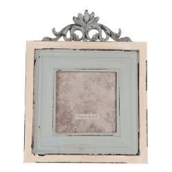 Clayre & Eef Vintage fotorámeček s erbem - 18*2*23 cm / 10*10 cm