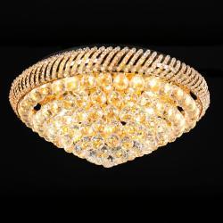 Clayre & Eef Křišťálové stropní světlo Becky - Ø 60*25 cm E14/max 12*40W