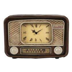 Clayre & Eef Retro hnědé stolní hodiny Onda- 24*17*17 cm