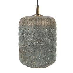 Clayre & Eef Závěsné hnědé světlo Lana s patinou a odřeninami - 19*25 cm E27/max 1*40W