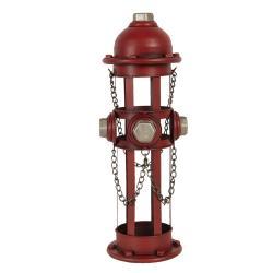Clayre & Eef Držák lahví ve tvaru požárního hydrantu - 14*15*41 cm