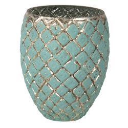 Clayre & Eef Vintage váza s patinou Damali – Ø 18*14 cm