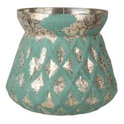 Clayre & Eef Vintage váza s dekorem Damali – Ø 16*19 cm