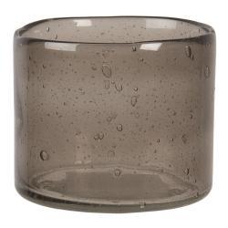 Clayre & Eef Svícen na čajovou svíčku se zakaleným sklem - 8*10 cm