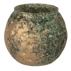 Clayre & Eef Svícen na čajovou svíčku s bronzovou patinou - 10*11 cm