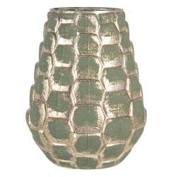 Clayre & Eef Designová skleněná váza Christine se vzorem - 25*20 cm