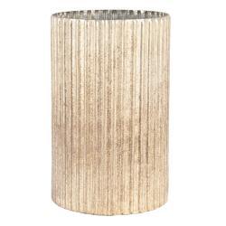 Clayre & Eef Skleněná vroubkovaná váza Elodie - Ř 15*25 cm