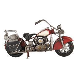 Clayre & Eef Retro kovový držák na láhev ve tvaru motorky - 41*14*22 cm