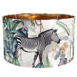 Clayre & Eef Textilní stínidlo s motivem divokých zvířat Safari – Ø 45*28 cm / E27