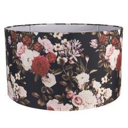 Clayre & Eef Květinové textilní stínidlo – Ø 53*30 cm / E27