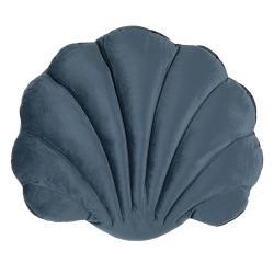 Clayre & Eef Tmavě modrý polštář ve tvaru mušle Frona - 38*48 cm
