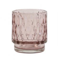 Light & Living Staro - růžový skleněný svícen Grace - Ø 7*8 cm