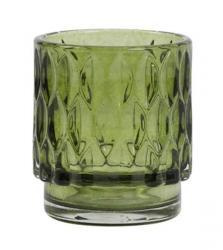 Light & Living Olivově zelený skleněný svícen Grace - Ø 7*8 cm