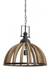 Light & Living Závěsné dřevěné světlo Djem - Ø 60*60 cm