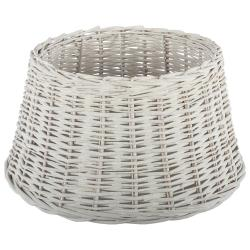 Collectione Bílé ratanové stínidlo - Ø 30*15 cm / E27
