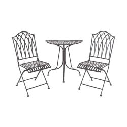 MANDALA GARDEN Zahradní set s půlkruhovým stolem - tm. hnědá