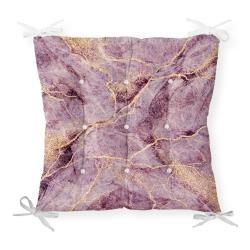 Podsedák s příměsí bavlny Minimalist Cushion Covers Lila Marble,40x40cm