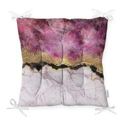 Podsedák na židli Minimalist Cushion Covers Pink Gold, 40 x 40 cm