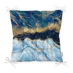 Podsedák na židli Minimalist Cushion Covers Blue Marble, 40 x 40 cm