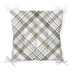 Podsedák na židli Minimalist Cushion Covers Gray Brown Flannel, 40 x 40 cm