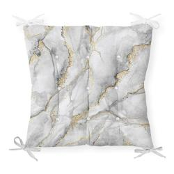 Podsedák na židli Minimalist Cushion Covers Marble Gray Gold, 40 x 40 cm