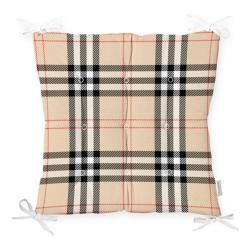Podsedák na židli Minimalist Cushion Covers Flannel Beige, 40 x 40 cm