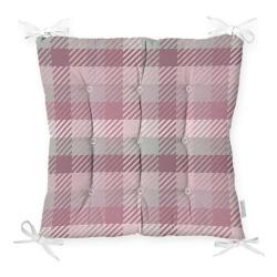 Podsedák na židli Minimalist Cushion Covers Flannel Pink, 40 x 40 cm
