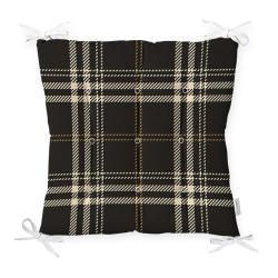 Podsedák na židli Minimalist Cushion Covers Flannel Black, 40 x 40 cm