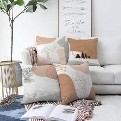 Sada 4 povlaků na polštáře Minimalist Cushion Covers Flamingo,55 x 55 cm