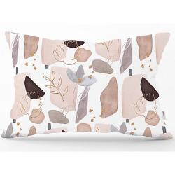 Povlak na polštář Minimalist Cushion Covers Soft Color Leaves, 35 x 55 cm