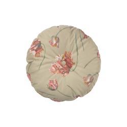 Béžový sametový polštář BePureHome Vogue, ø 45 cm