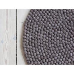 Ořechově hnědý kuličkový vlněný koberec Wooldot Ball Rugs, ⌀ 200 cm