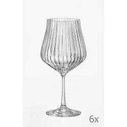 Sada 6 sklenic na víno Crystalex Tulipa Optic,600ml
