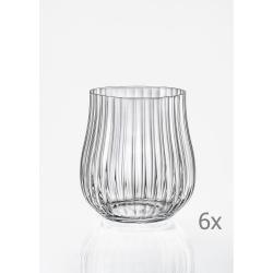Sada 6 sklenic na whisky Crystalex Tulipa Optic,350ml