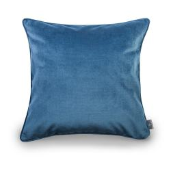 Modrý povlak na polštář se sametovým povrchem WeLoveBeds Jeans,50x50cm