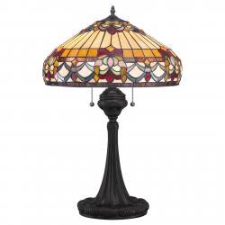 QUOIZEL Stolní lampa Belle Fleur v designu Tiffany