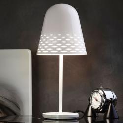 Rotaliana Rotaliana Capri - bílá stolní lampa, výška 40 cm