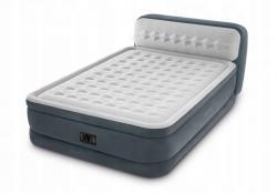 Nafukovací postel Intex 236x152cm s pumpou šedá
