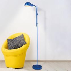 Näve Stojací lampa Alani s dotykovým vypínačem, modrá