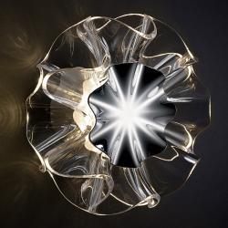 QisDesign Designové nástěnné světlo Flamenca dotykový senzor
